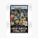 Coral Australian Travel Australia Great Vintage Barrier