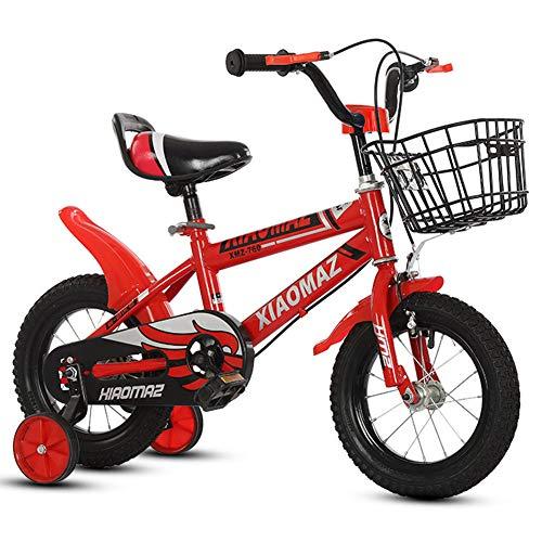 KXDLR kinderfiets voor 2-7 jaar oud 12 14 16 inch fiets met trainingswielen met automand