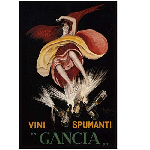 Vintage alcoholische dranken wijn bier poster bitter campari klassieke canvas schilderijen print muur posters Home decor gift-50x70cm geen frame