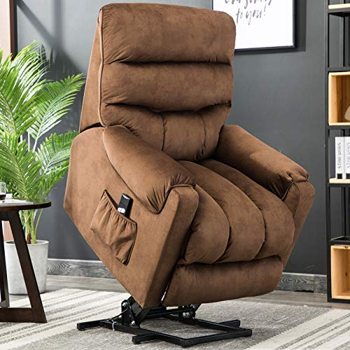 Canmov Overstuffed Heavy Duty Power Recliner Chair Antiskid Fabric