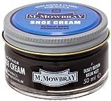 [M.モゥブレィ] シューケア 靴磨き 栄養 保革 補色 ツヤ出しクリーム シュークリームジャー ダスキーブラウン 50ml