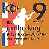Rotosound Phosphor Bronze Super Light Gauge Acoustic Guitar Strings (9 13 18 26 38 48), JK9