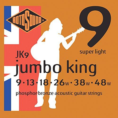 Rotosound JK9 - Juego de cuerdas para guitarra acústica de fósforo/bronce, 13 18 26 38 48