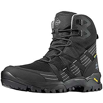 Wantdo Men s All Season Hiking Boots High Waterproof Hiking Shoes for Outdoor Camping Black 13 M US