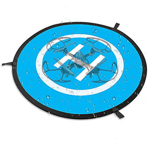 Simtoo Drone Landing Pad, 29.5'/75cm Large Universal Launch Pad, Fast-fold Portable Quadcopter Landing Mat Double Sided Protective Helipad for RC Drones Helicopter UVAs