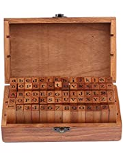 لعبة الحروف الابجدية الخشبية مكونة من 70 قطعة خشبية/ مطاطية لاصقة من حروف وارقام ورموز