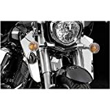 National Cycle Switchblade Windshield Lower (Chrome) Compatible with 03-07 Honda VTX1300S