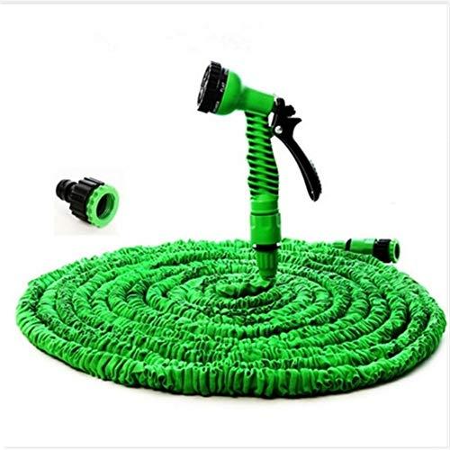YYCHH Manguera Flexible Mágico Ampliable Manguera De Jardín Carretes De Manguera De Jardín De Agua For El Riego De Conector Azul Verde 25-200FT (Color : Green, Size : 100ft)