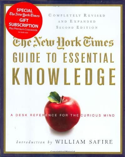 The New York Times Guide to Essential Knowledge A Desk Reference for the Curious Mind product image
