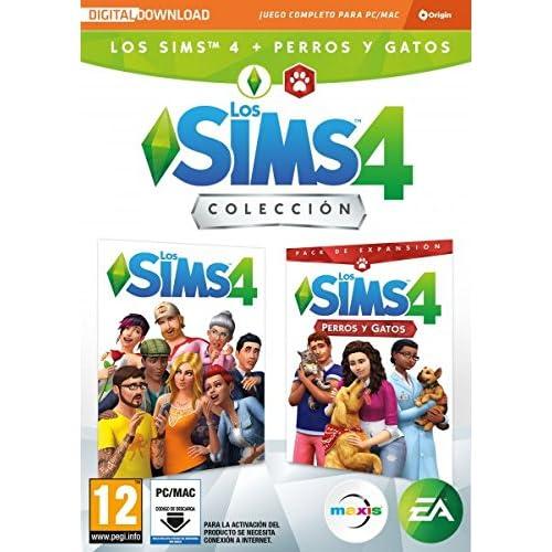 Los Sims 4 Plus - Perros y gatos bundle juego + expansión (La caja contiene