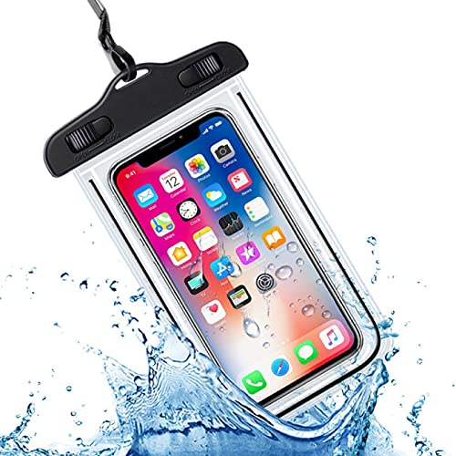 Funda impermeable universal para teléfono móvil, funda de protección de PVC, apta para teléfono móvil de 4 a 6,5 pulgadas, color negro