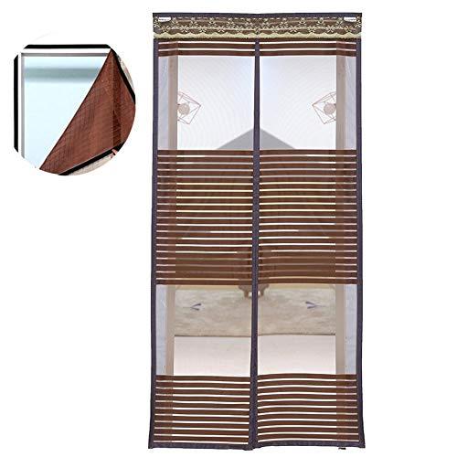 QLL vliegengaas, magnetisch, zomer, balkon, afneembaar, voor woonkamer, slaapkamer, gordijn, deur, klittenbandsluiting, eenvoudige installatie 100x210Cm(39x83Zoll) Blue