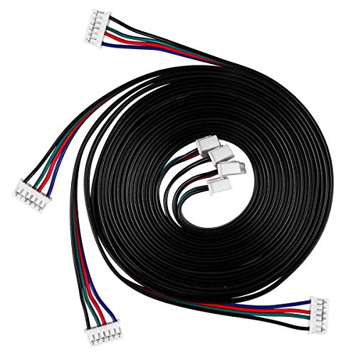 UEETEK 4 Stück 1M Schrittmotor Kabel Bleidraht HX2.54 4-polig bis 6-polig