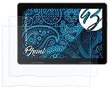 Bruni Schutzfolie kompatibel mit Medion LIFETAB E10604 Folie, glasklare Bildschirmschutzfolie (2X)