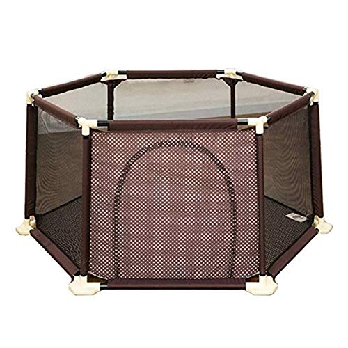 Great Features Of Playpen Baby Portable 6-Panel Baby Fence with Door, Plastic Safety Playground, Sui...