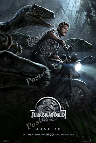 Posters USA - Jurassic World Movie Poster GLOSSY FINISH - MOV297 (24' x 36' (61cm x 91.5cm))
