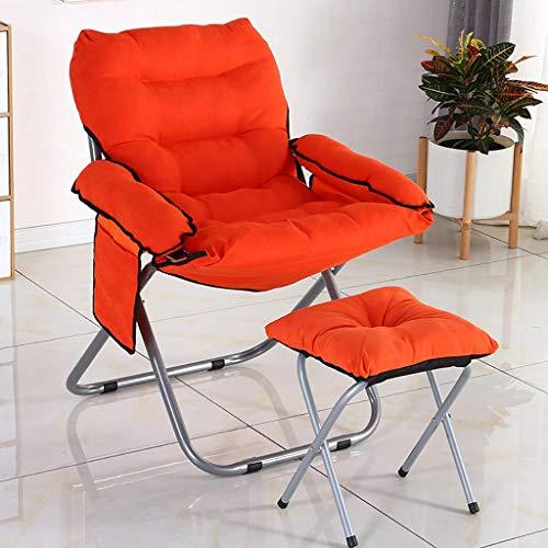 schommelstoel, stalen frame strandstoel tuinstoel patio ligstoel - klapstoel met voetenbank lounge stoel