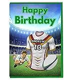 Carte d'anniversaire maillot de rugby – Dragons catalans – Personnalisable avec un nom et un numéro