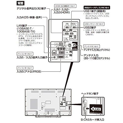 『シャープ 50V型 AQUOS ハイビジョン フルハイビジョン 液晶テレビ 外付HDD対応(裏番組録画) LC-50W30』の3枚目の画像
