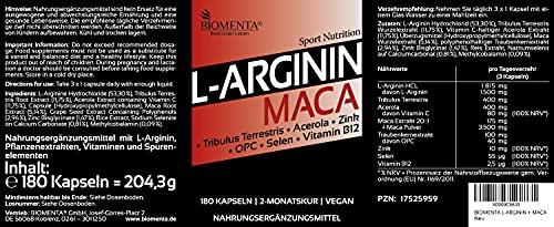 Biomenta L-Arginin und Maca - 2