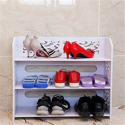 Busirsiz Zapatero plástico de Madera Junta Hueco de múltiples Capas del Zapato de actos, Sala de Estar Dormitorio Impermeable Zapato de Almacenamiento en Rack Rack de Zapato Simple Zapatero de Madera
