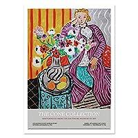絵マティスファッションレトロポスター版画抽象キャンバス絵画インテリア肖像画マチス壁アートパネル写真リビング部屋家ホテルオフィス装飾40x60cm / Unframed-8