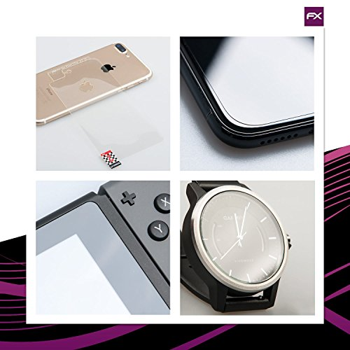 atFoliX Glasfolie kompatibel mit Panasonic Lumix DMC-LX10 / LX15 Panzerfolie, 9H Hybrid-Glass FX Schutzpanzer Folie
