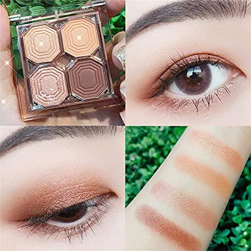 Ojos de sombra de ojos Maquillaje de paleta, 4 colores Paleta de ojos, Mate o Shimmer Maquillaje de ojos, impermeable Largo Duración Iluminación Profesional Sombra de ojos Maquillaje Pallet