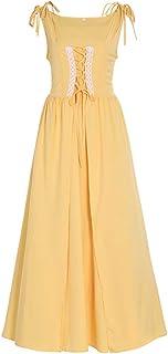 CosplayDiy Women's Irish Renaissance Overdress Medieval Off Shoulder Dress Set