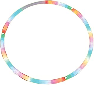 Rhode Island Novelty 28-Inch LED Light-Up Twist Hula Hoop, One Hula Hoop