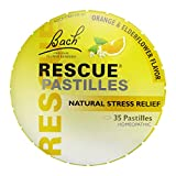 RESCUE PASTILLES, Homeopathic Stress Relief, Natural Orange & Elderflower Flavor - 35 count, pack of 1