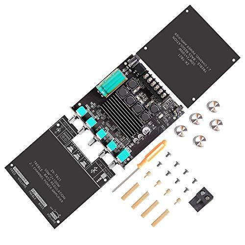 Placa de circuito del módulo amplificador de potencia de audio de 2.1 canales de entrada AUX Bluetooth Audio Digital Power Amp