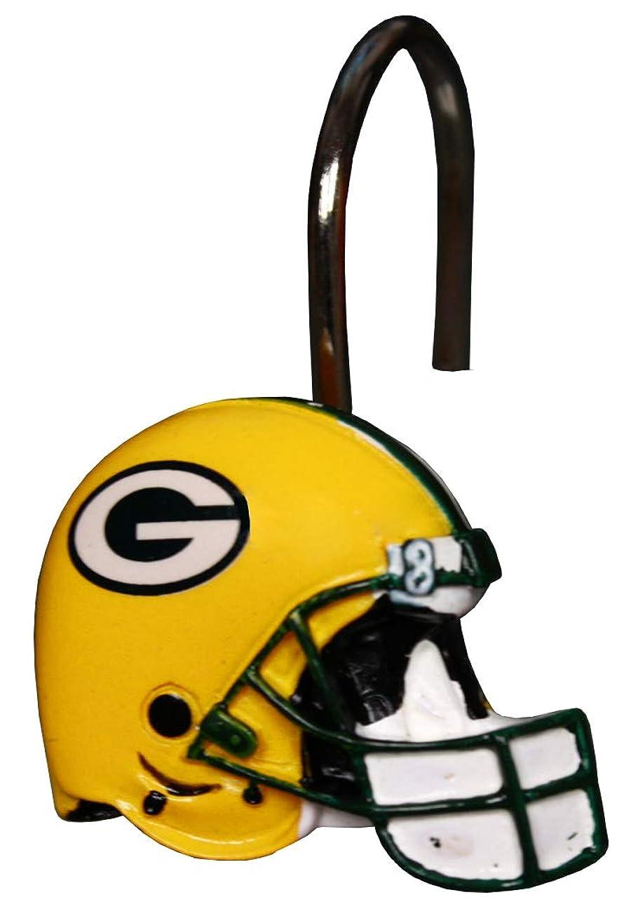 矢印居眠りするシダGreen Bay Packers Bathroom Shower Curtain Hooks Rings Set