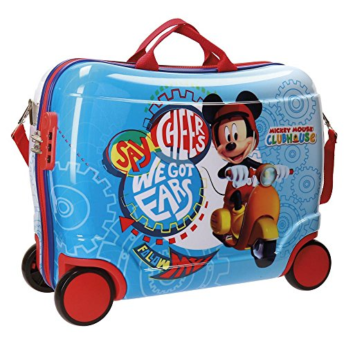 Disney Mickey Vespa Valigia per bambini, 50 cm, 34 liters, Multicolore (Multicolor)
