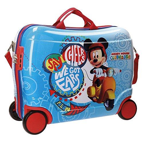 Disney Mickey Vespa Valigia per bambini, 50 cm, 34 liters, Multicolore (Multicolor)