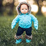 The Queen's Treasures 15' Doll Clothes Compatible with American Girl 's Bitty Baby & Twins! Blue Snow Suit Jacket,with Matching Mittens & Boots Plus Black Ski Pants. Complete Outfit!