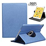 LRCXL iPad 9.7 2018/2017, iPad Air 2, iPad Air Case - Rotating Stand Protective Cover with Auto Sleep Wake for Apple New iPad 9.7 inch (6th Gen, 5th Gen) / iPad Air 2013 Model (Deep Blue)