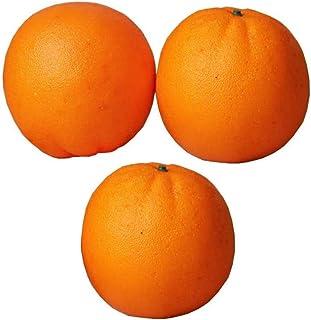 Vokmon 3pcs artificiale Arancione Frutta di simulazione Fotografia Frutta schizzo Falso Schiuma Arancione Prop