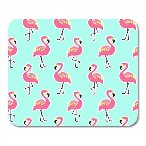 AOHOT Mauspads 90S Beautiful Pink Flamingo on Mint Pineapple Pop Retro 80S Beauty Bird Mouse pad 9.5