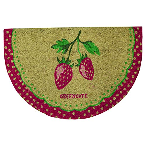 GreenGate COIDOMHRSTB1004 Strawberry deurmat halfrond pale roze (1 stuks)