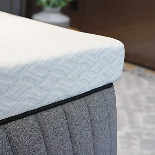 Spruce & Spring 2 Inch Cool Gel Memory Foam Bed Mattress Topper High Density Removable Fitted Cover -10 Years Warranty, TXL