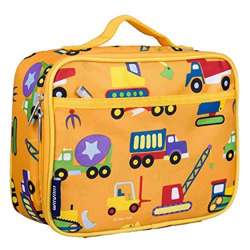Wildkin Brotdose für Kinder, Textil, Orange Construction, Einheitsgröße