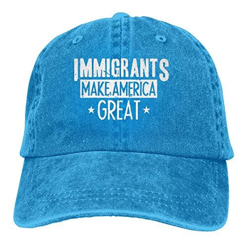 XCNGG Einwanderer Machen Amerika großartig Unisex Cowboyhüte Sport Jeans Hut Mode Baseball Cap Black