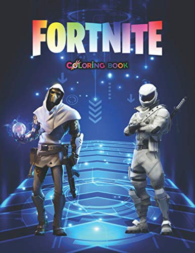 fortnite coloring book: +55 coloring pages for kids and Adults ,+50 Amazing Drawings : All Characters , Weapons & Other...( Original Design )