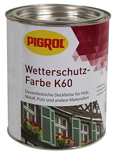 Pigrol Wetterschutz-Farbe K60-0,75L - brasil Holzfarbe für aussen und innen