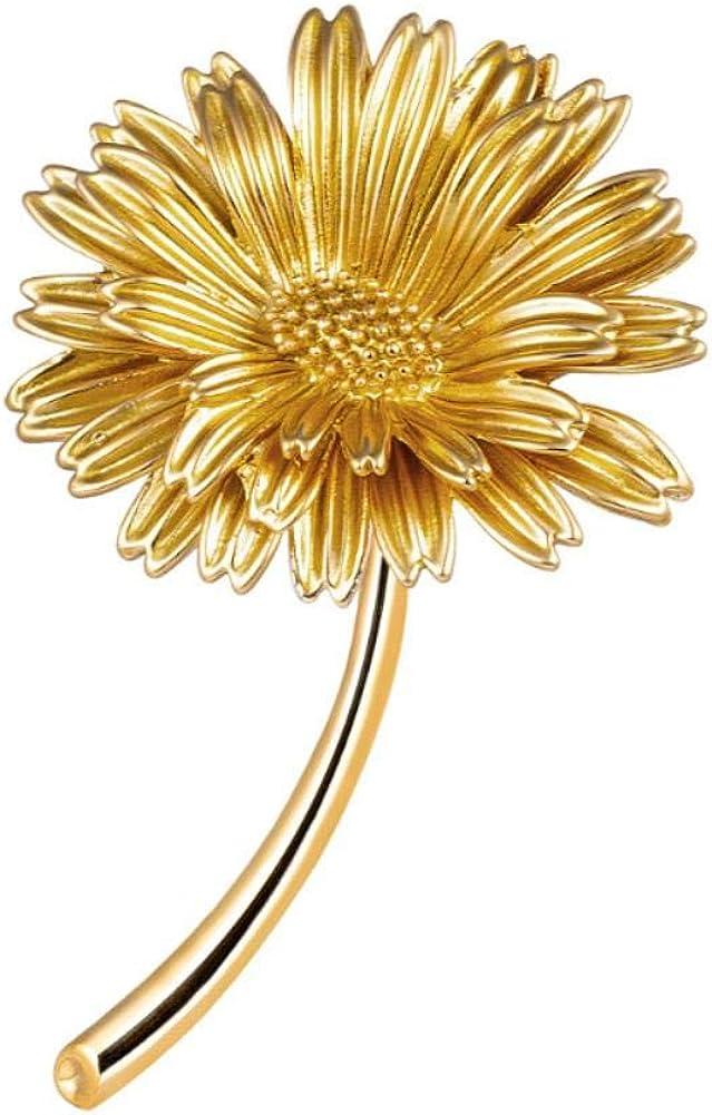 Leono Freedi Max 49% OFF Sunflower Brooch Outstanding Womens Women Pin for Jewelr Flower