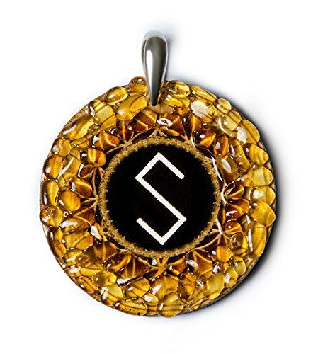 grass-snake–ámbar amuleto con Pagan antigua Báltico señal par