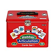 Super Duper Publications | Set of 7 Webber Articulation Card Decks (Combo Set 1) | Educational Learning Resource for Children | Flashcards for Speech Therapy