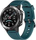 DOOK Fitness Tracker Smart Watch with Blood Pressure Heart Rate Sleep Monitor for Men and Women Touch Screen 12 Sport Modes Waterproof Activity Tracker with Pedometer for Android and iPhone-Blue
