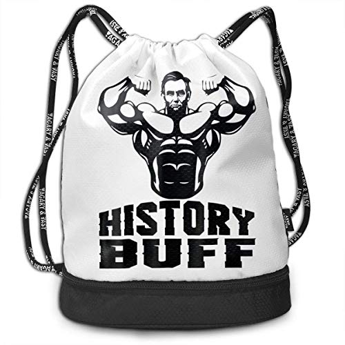 XCNGG History Buff Funny Multifunctional Travel Sports And Leisure Drawstring Backpack
